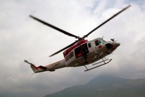 Elicottero AB 412 del tipo descritto nel racconto. Cliccare sull'immagine per collegarsi alla galleria immagini.
