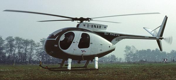 Nardi-Hughes 500C della società Elipiazza nel 1981