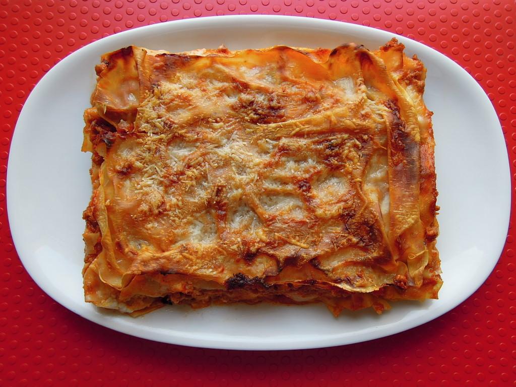 Lasagne gialle alla bolognese