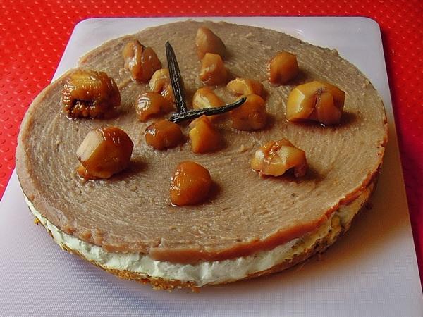 Torta cheesecake e marmellata di marroni