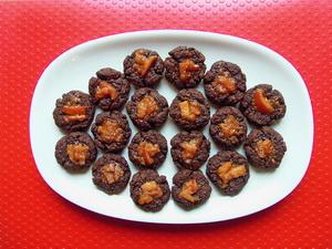 Biscottini cacao e marmellata