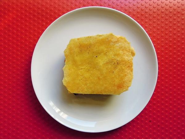 Tortino vegetale croccante con pane carasau